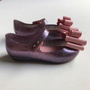 Mini Melissa Shoes - Mini Melissa Mary Jane Jelly Bow Kids Shoe Purple
